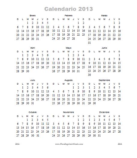 2013 Octubre 2013 Noviembre 2013 Diciembre 2013 Calendarios Para