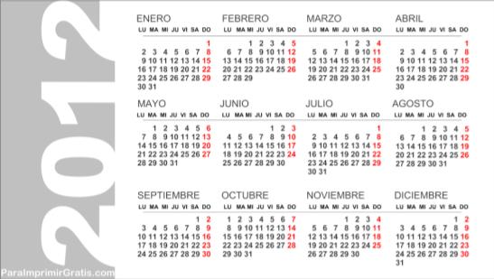 2012 Junio 2012 Julio 2012 Agosto 2012 Septiembre 2012 Octubre 2012