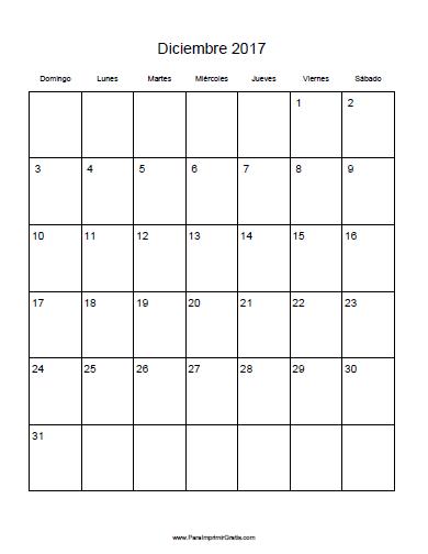 Calendario 2017 para imprimir por mes - Calendario 2017 para imprimir por meses ...