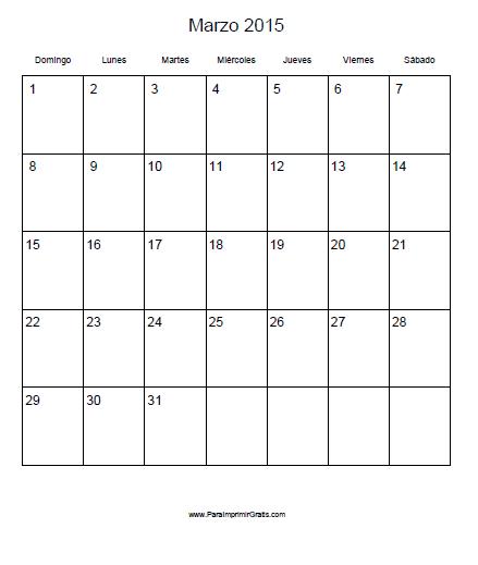calendario marzo 2015 para imprimir - Selo.l-ink.co