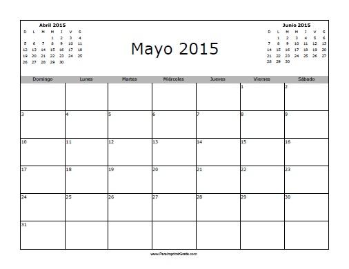 calendario para imprimir gratis 2015