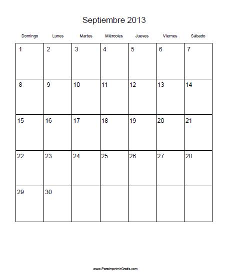 junio 2013 julio 2013 agosto 2013 septiembre 2013 octubre 2013    Calendario Septiembre 2013