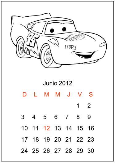 Calendarios para Colorear