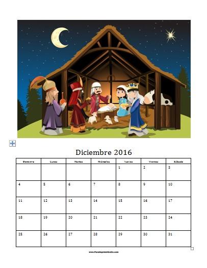 Plantilla Foto Calendario Diciembre 2016 - Para Imprimir Gratis ...
