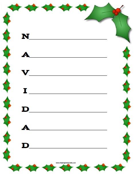 Acr stico de navidad para imprimir gratis - Imagenes de navidad para imprimir gratis ...