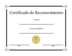 Certificados De Reconocimiento 1