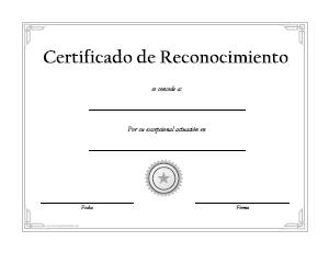 formato para hacer un reconocimiento