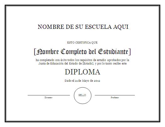 Plantillas de Diplomas - Para Imprimir Gratis - ParaImprimirGratis.