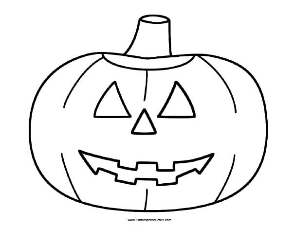 Calabaza de Halloween para Colorear para Imprimir Gratis