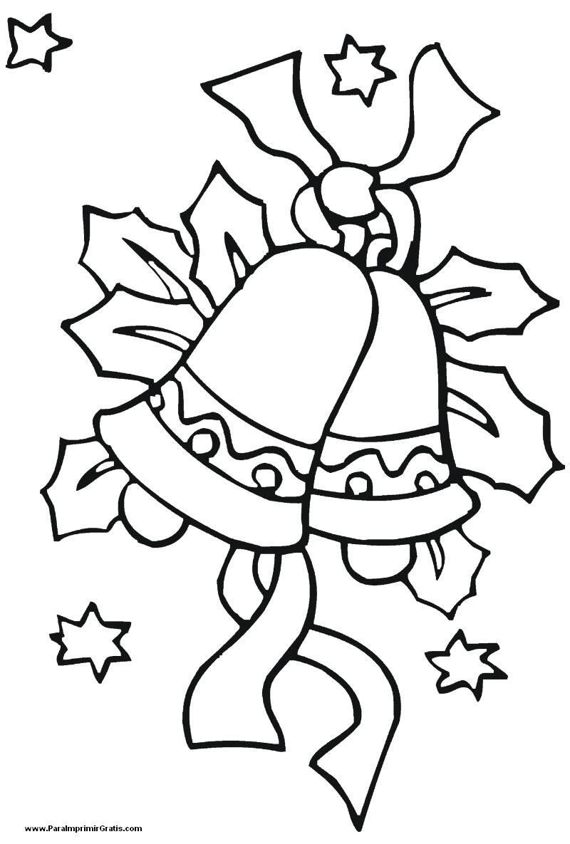 Campana de navidad para imprimir gratis - Dibujos de navidad para colorear gratis ...