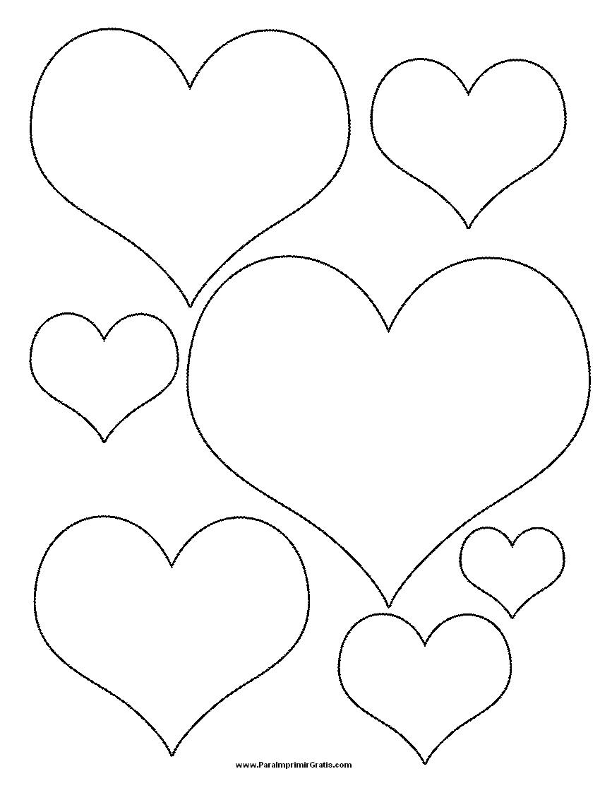 Сердечки  из бумаги шаблоны 5