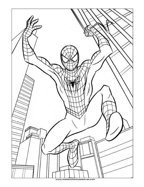 Dibujos para Colorear de Spider-Man