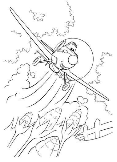 Dibujos de Aviones Disney para Imprimir