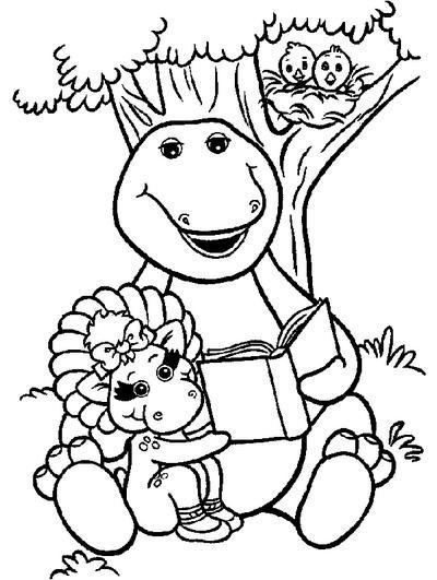 Dibujos de Barney para Imprimir