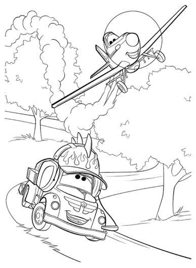 Dibujos de Disney Planes para Imprimir