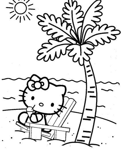 Dibujos de Hello Kitty para Imprimir
