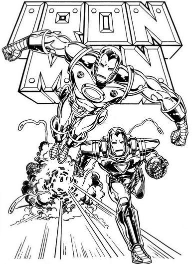 Dibujos de Iron Man para Imprimir