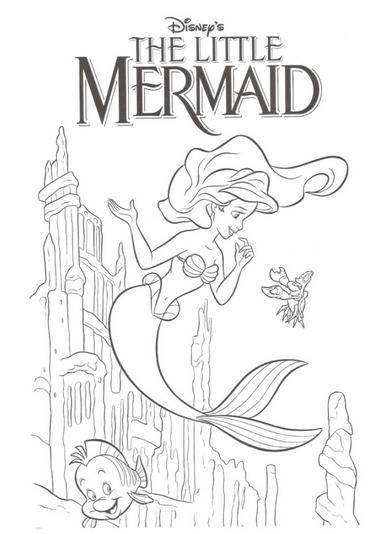 Dibujos de La Sirenita para Imprimir