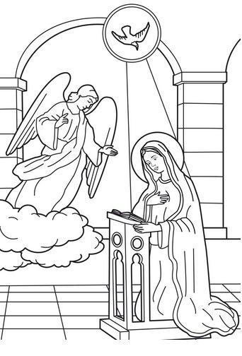 Dibujos de La Virgen María para Imprimir