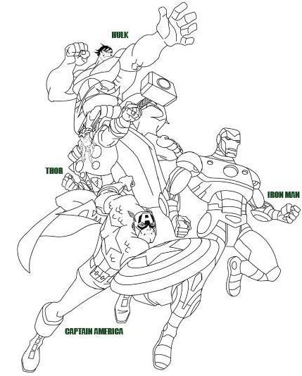 Dibujos de Los Vengadores para Imprimir