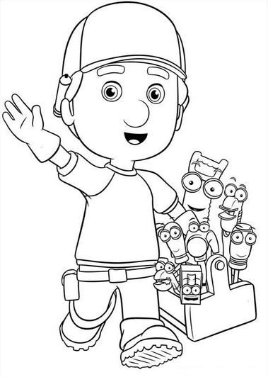 Dibujos de Manny Manitas para Imprimir
