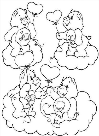 Dibujos de Ositos Cariñositos para Imprimir