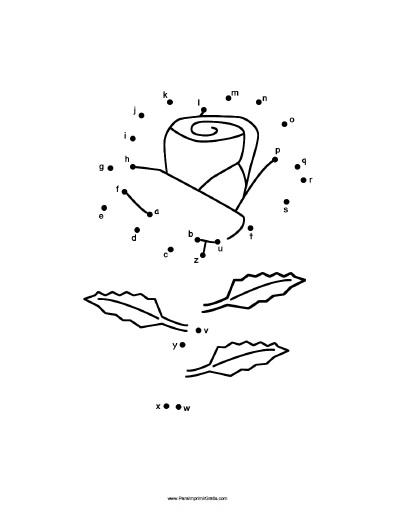 Dibujos Para Unir Puntos De Flores Para Imprimir Gratis