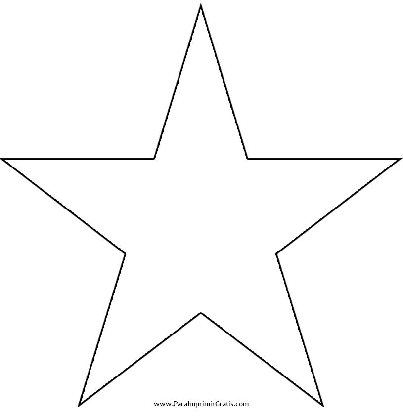 Estrella para imprimir gratis - Plantilla estrella navidad ...