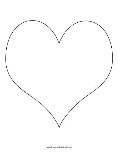 Molde de Corazón Grande - Para Imprimir Gratis - ParaImprimirGratis.com