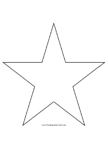 Molde De Estrella Para Imprimir Gratis