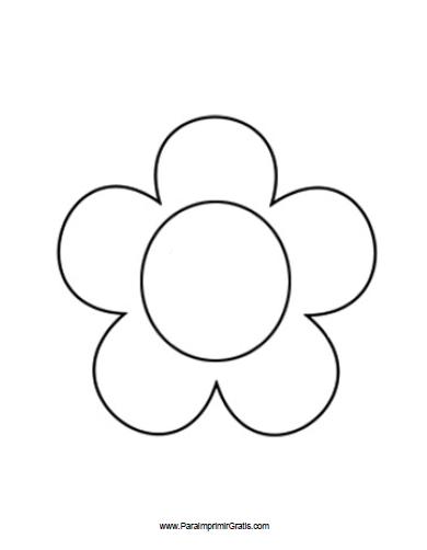 Molde de Flor - Para Imprimir Gratis - ParaImprimirGratis.com