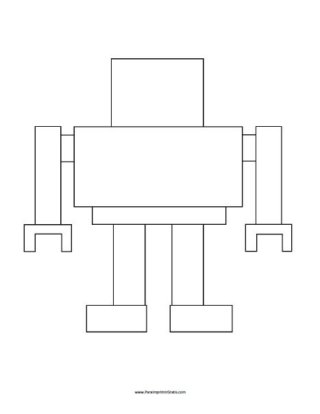Molde de Robot para Imprimir Gratis