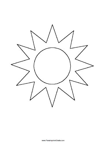 Molde De Sol Para Imprimir Gratis Paraimprimirgratiscom
