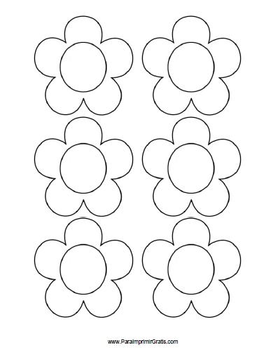 Moldes De Flores Para Imprimir Gratis Paraimprimirgratis Com