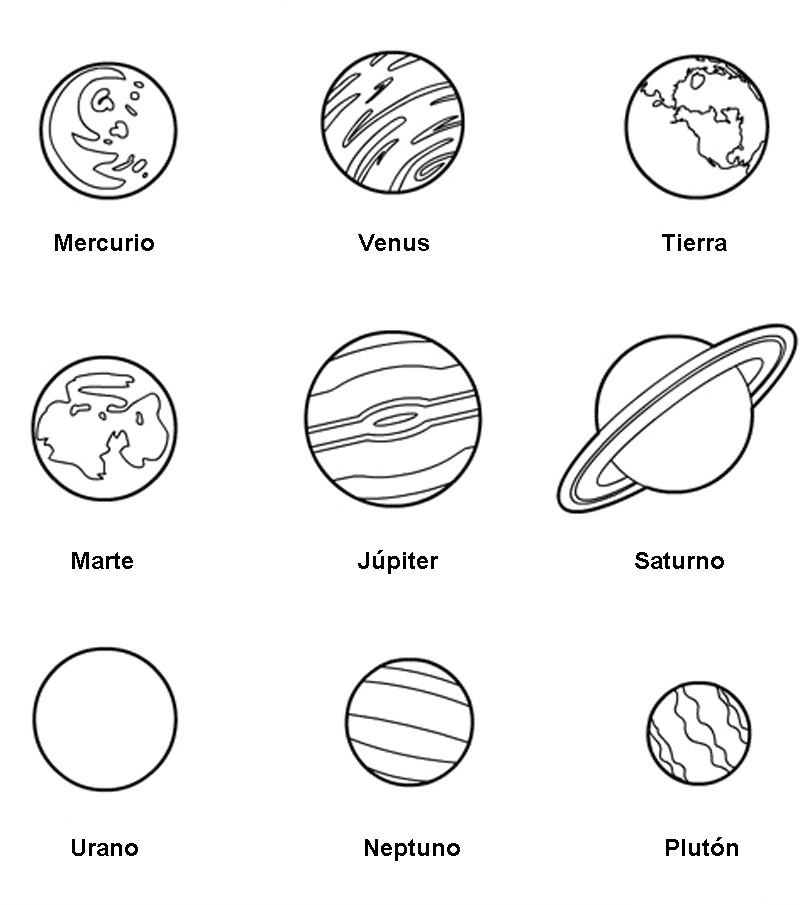planetas - para imprimir gratis