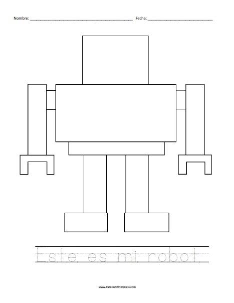 Robot para Colorear para Imprimir Gratis