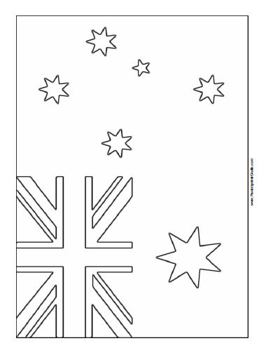 Bandera de Australia para Colorear - Para Imprimir Gratis ...