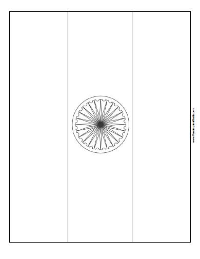Bandera de India para Colorear - Para Imprimir Gratis ...