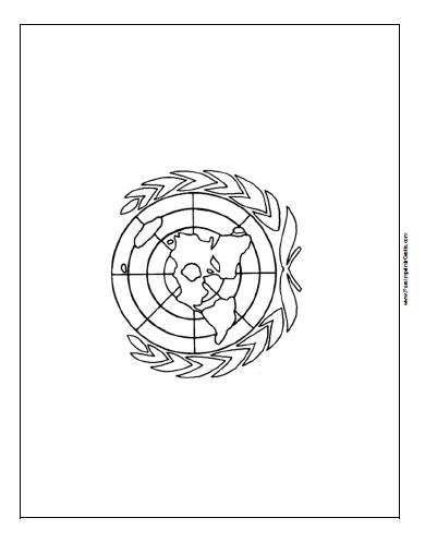 Bandera De La Onu Para Colorear Para Imprimir Gratis