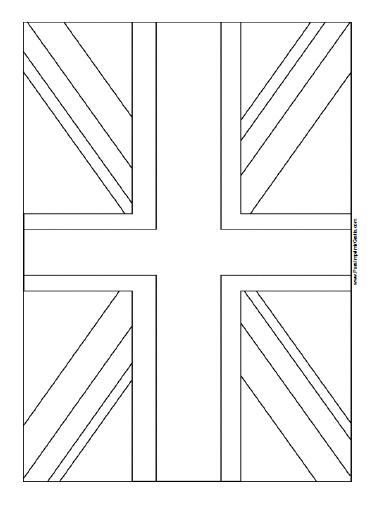 Bandera de Reino Unido para Colorear - Para Imprimir Gratis ...