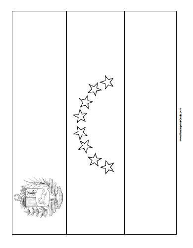 Bandera de Venezuela para Colorear - Para Imprimir Gratis ...