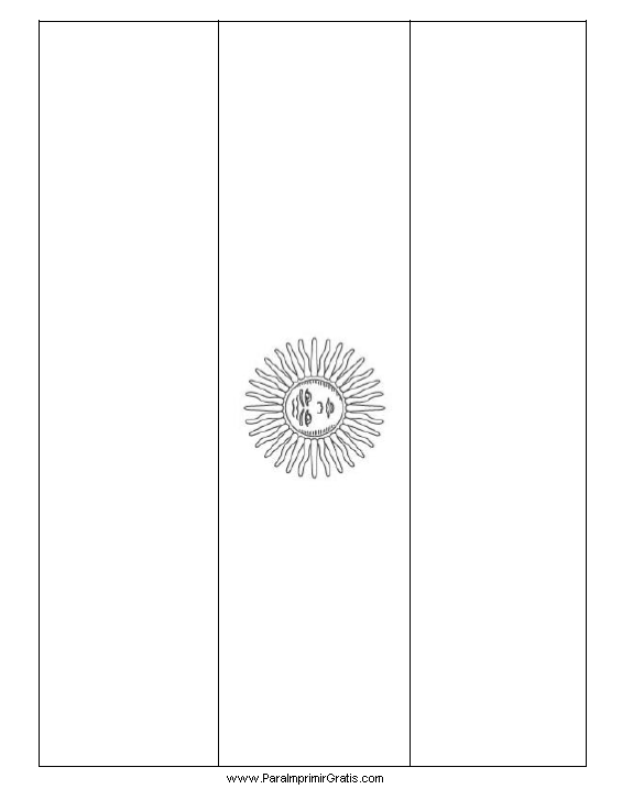 Bandera de Argentina para Colorear - Para Imprimir Gratis ...