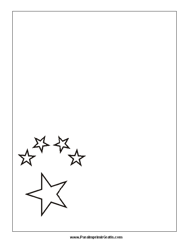 Bandera de China para Colorear   Para Imprimir Gratis
