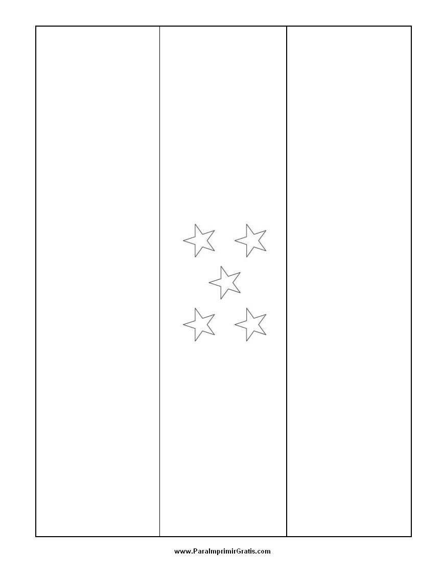 Bandera de Honduras para Colorear  Para Imprimir Gratis