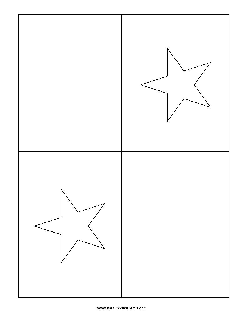 Bandera de Panam para Colorear  Para Imprimir Gratis