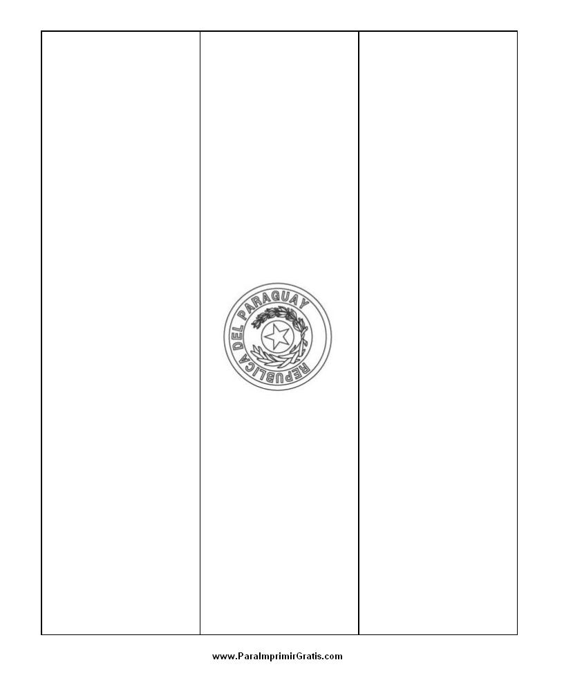 Bandera de Paraguay para Colorear - Para Imprimir Gratis ...