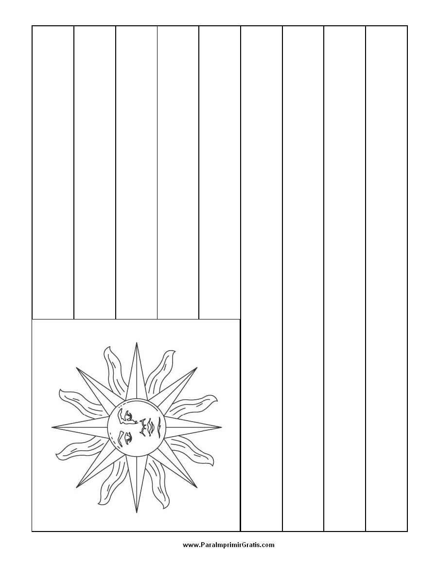 Bandera de Uruguay para Colorear - Para Imprimir Gratis ...