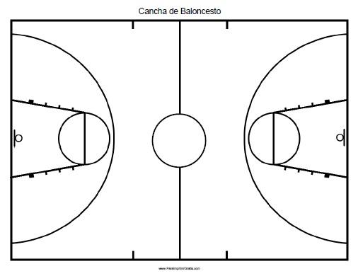 Cancha de Baloncesto - Para Imprimir Gratis - ParaImprimirGratis.com