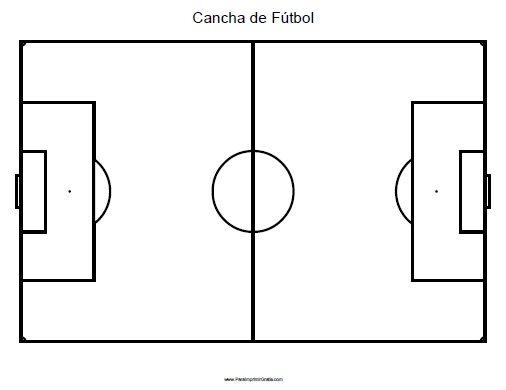 dibujar cancha futbol:
