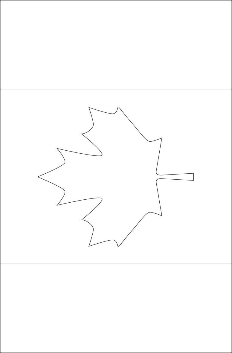 Bandera de Canadá para Colorear - Para Imprimir Gratis ...